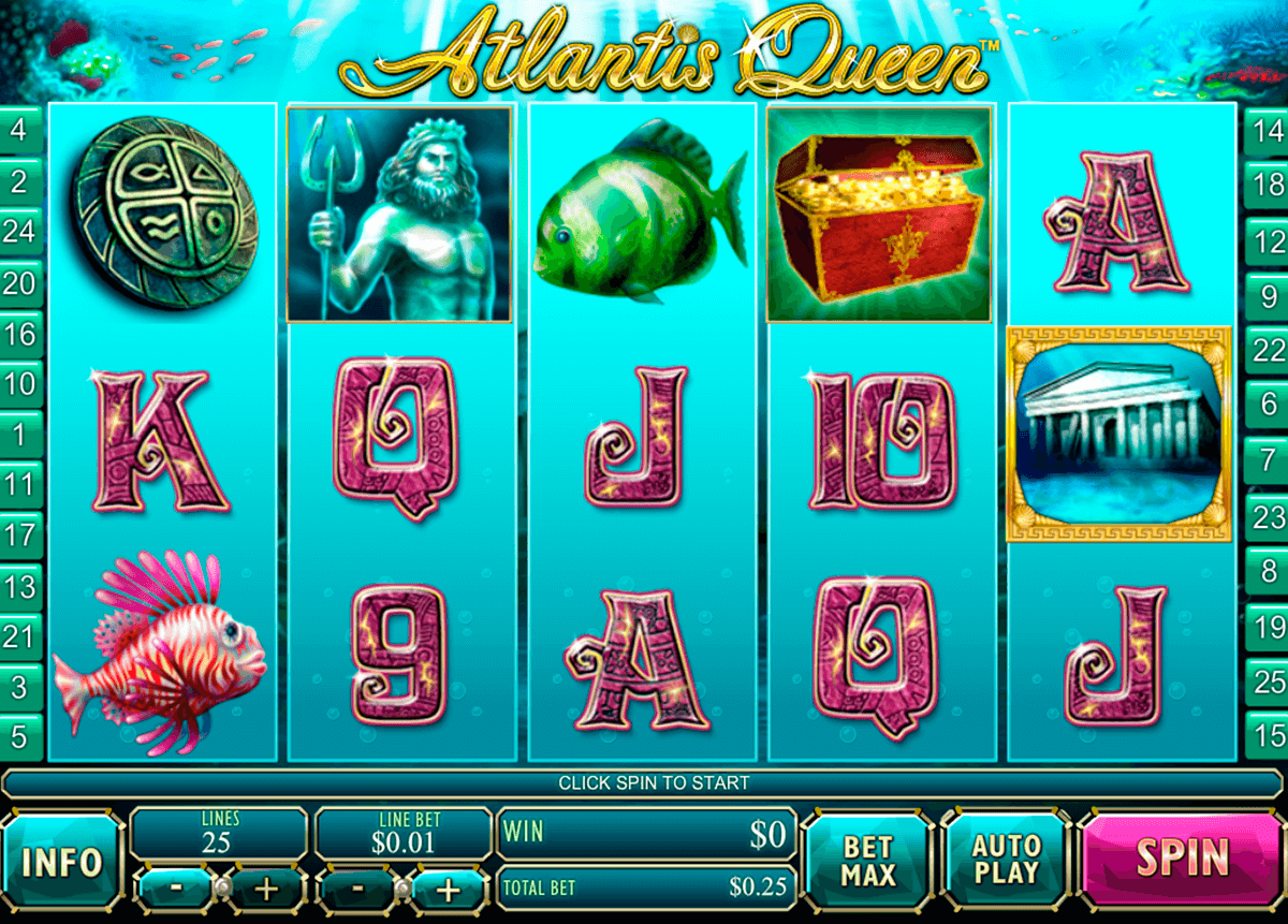 atlantis queen playtech آلة السلوت
