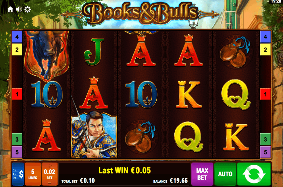 books and bulls bally wulff آلة السلوت