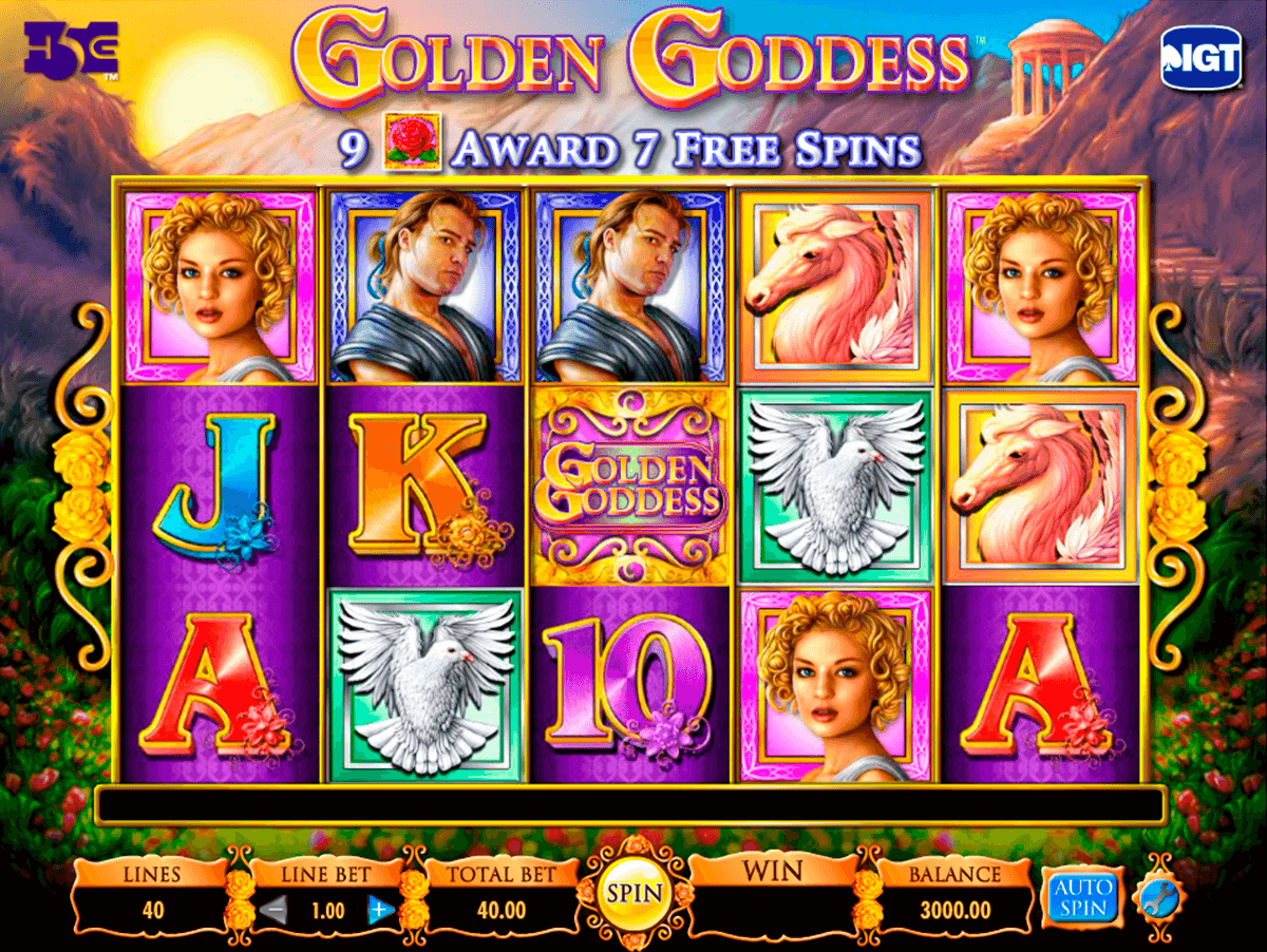 golden goddess igt آلة السلوت