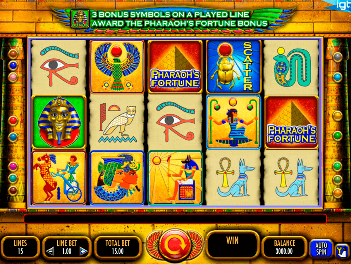 pharaohs fortune igt آلة السلوت