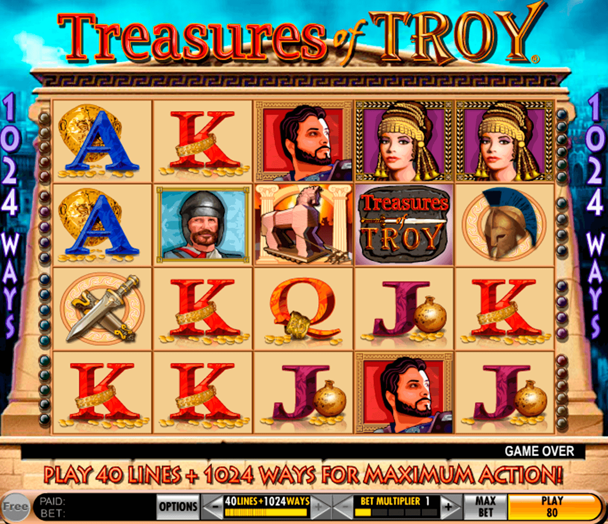 treasures of troy igt آلة السلوت