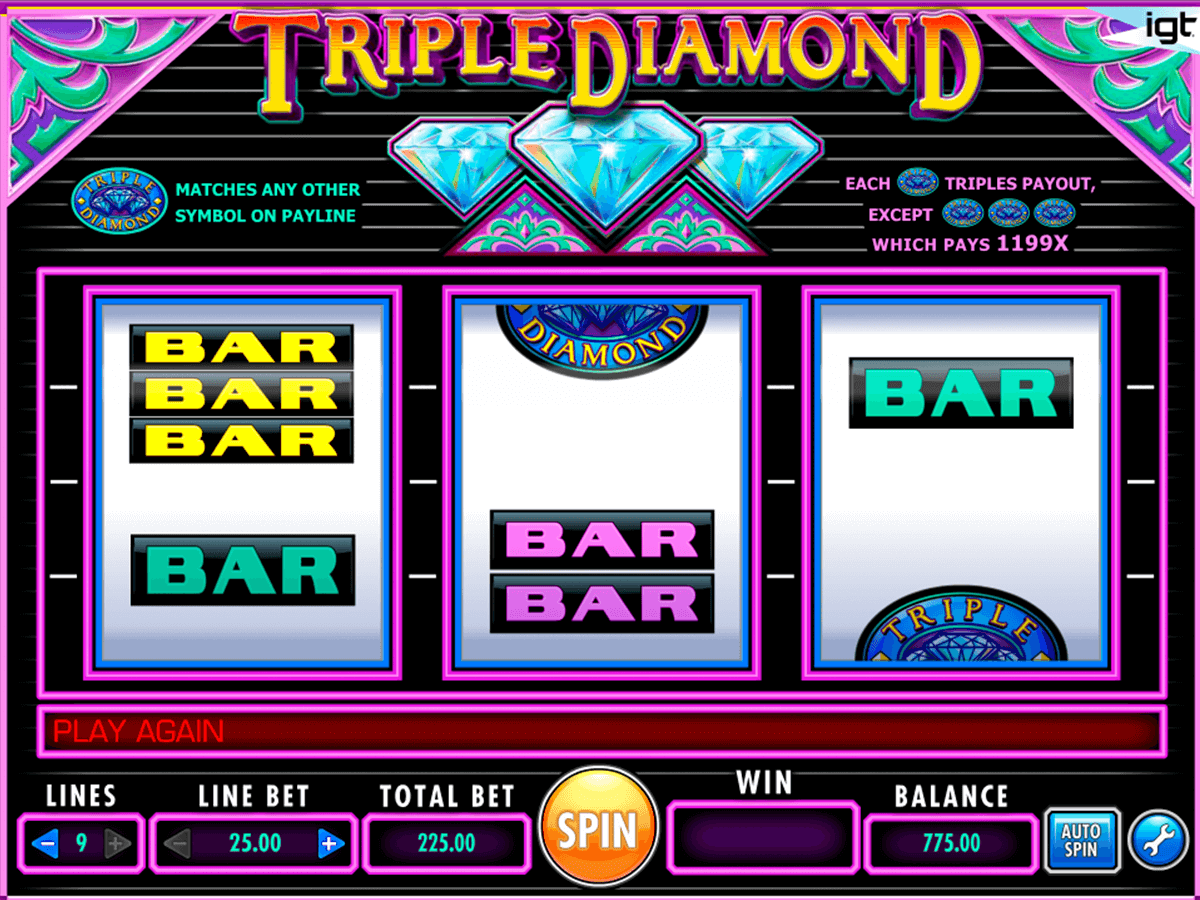 triple diamond igt آلة السلوت